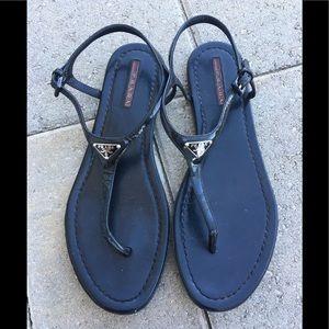 Prada Thong Sandals Black